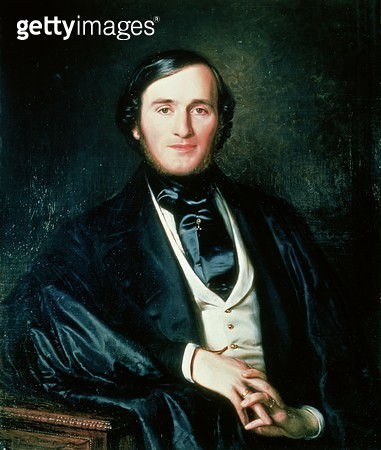<b>Title</b> : Richard Wagner (1813-83) (oil on canvas)<br><b>Medium</b> : <br><b>Location</b> : Private Collection<br> - gettyimageskorea