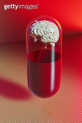 Brain inside drug capsule - gettyimageskorea