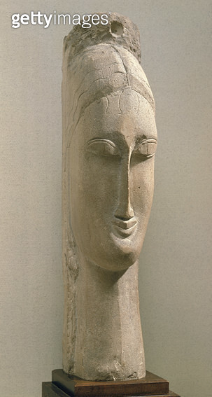 <b>Title</b> : Head of a Woman (stone)<br><b>Medium</b> : <br><b>Location</b> : Musee National d'Art Moderne, Centre Pompidou, Paris, France<br> - gettyimageskorea