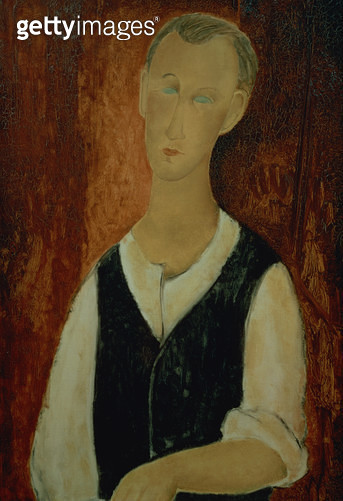 <b>Title</b> : Young Man with a Black Waistcoat, 1912 (oil on canvas)<br><b>Medium</b> : oil on canvas<br><b>Location</b> : Bridgestone Museum of Art, Tokyo, Japan<br> - gettyimageskorea