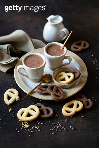 Hot chocolate and cookies - gettyimageskorea