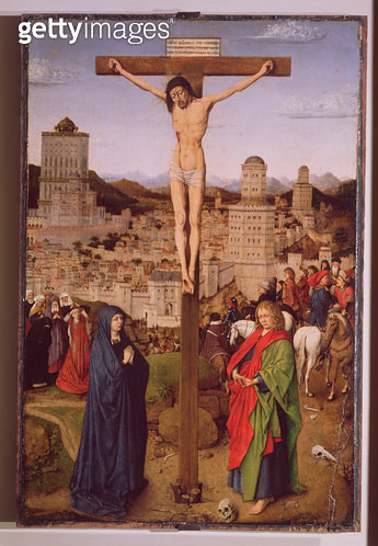 <b>Title</b> : The Crucifixion (oil on panel)<br><b>Medium</b> : <br><b>Location</b> : Ca' d'Oro, Venice, Italy<br> - gettyimageskorea