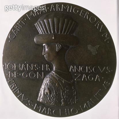 <b>Title</b> : Portrait medal depicting Gianfrancesco Gonzaga (1394/5-1444) 1446-8 (bronze) (for reverse see 96844)<br><b>Medium</b> : bronze<br><b>Location</b> : Ca' d'Oro, Venice, Italy<br> - gettyimageskorea