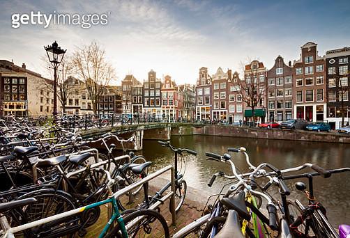 Amsterdam at sunset - gettyimageskorea
