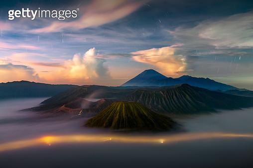 Bromo National Park  with startrails, Java Island,Indonesia - gettyimageskorea