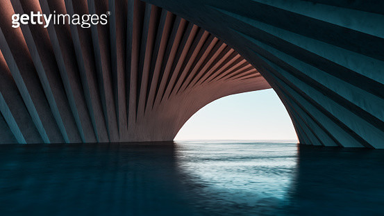 Abstract concrete building - gettyimageskorea