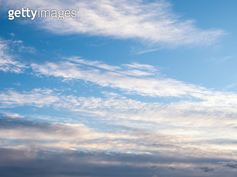 Full frame of the low angle view of clouds In sky during sunset. - gettyimageskorea