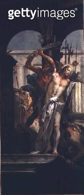 The Flagellation (oil on canvas) - gettyimageskorea