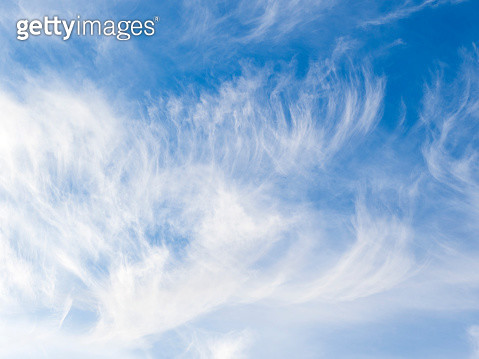Full frame of the low angle view of white color clouds  with a blue sky. - gettyimageskorea