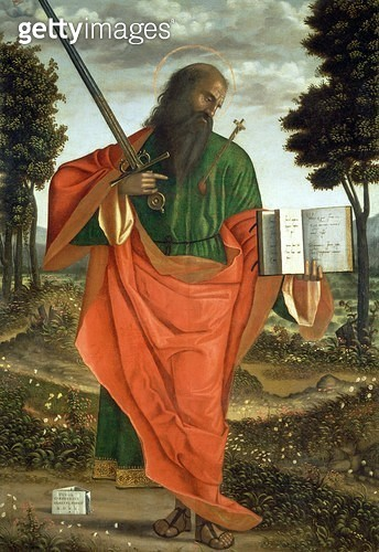 <b>Title</b> : St. Paul, 1520 (oil on panel)<br><b>Medium</b> : <br><b>Location</b> : San Domenico, Chioggia, Italy<br> - gettyimageskorea