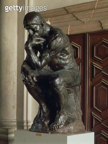 <b>Title</b> : The Thinker (bronze)<br><b>Medium</b> : <br><b>Location</b> : Museo d'Arte Moderna di Ca' Pesaro, Venice, Italy<br> - gettyimageskorea
