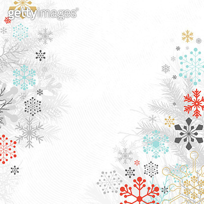 Holiday Background with Snowflakes - gettyimageskorea