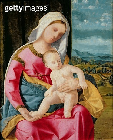 <b>Title</b> : The Virgin and Child (oil on panel)Additional Infoformerly attributed to Pier Francesco Bissolo;<br><b>Medium</b> : oil on panel<br><b>Location</b> : Musee Conde, Chantilly, France<br> - gettyimageskorea