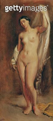 <b>Title</b> : Standing Female Nude, study for the central figure of 'The Tepidarium', 1853 (oil on canvas)<br><b>Medium</b> : <br><b>Location</b> : Musee Ingres, Montauban, France<br> - gettyimageskorea