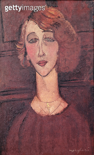 <b>Title</b> : Renee, 1917 (oil on canvas)<br><b>Medium</b> : oil on canvas<br><b>Location</b> : Museu de Arte, Sao Paulo, Brazil<br> - gettyimageskorea