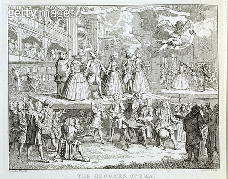 <b>Title</b> : The Beggar's Opera, engraved by Thomas Cook (1744-1818) (engraving)Additional InfoHarmony flies to the refuge of the 'legit' the<br><b>Medium</b> : <br><b>Location</b> : City of Westminster Archive Centre, London, UK<br> - gettyimageskorea