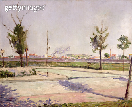 <b>Title</b> : The Road to Gennevilliers, 1883 (oil on canvas)<br><b>Medium</b> : oil on canvas<br><b>Location</b> : Musee d'Orsay, Paris, France<br> - gettyimageskorea