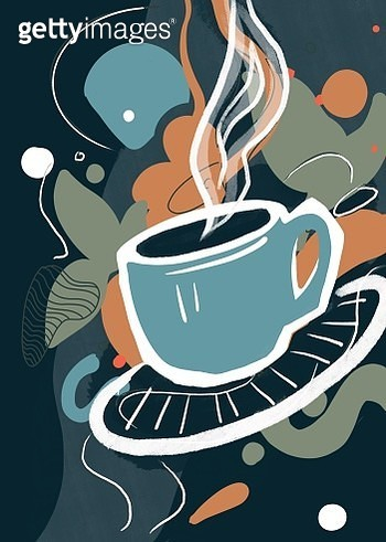 Cup of coffee poster design. - gettyimageskorea