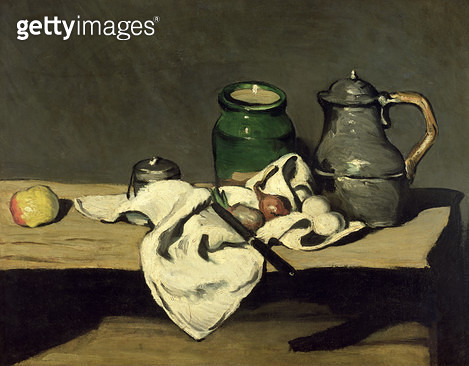 <b>Title</b> : Still Life with a Kettle, c.1869 (oil on canvas)<br><b>Medium</b> : oil on canvas<br><b>Location</b> : Musee d'Orsay, Paris, France<br> - gettyimageskorea