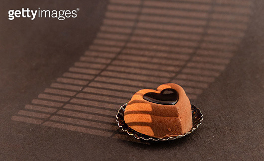 Heart shaped dessert for Valentines - gettyimageskorea
