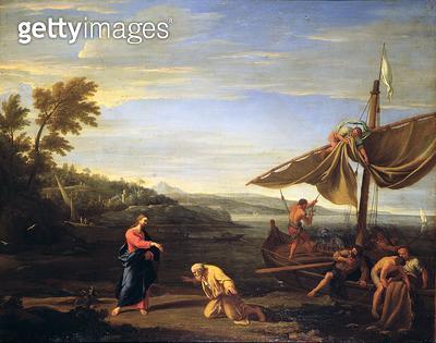 <b>Title</b> : The Calling of St. Peter (oil on canvas)<br><b>Medium</b> : oil on canvas<br><b>Location</b> : Galleria degli Uffizi, Florence, Italy<br> - gettyimageskorea