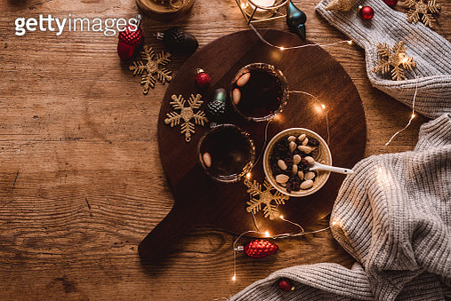Christmas decorations and glögg mulled wine - gettyimageskorea