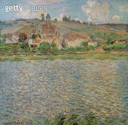 <b>Title</b> : Vetheuil, 1901 (oil on canvas)<br><b>Medium</b> : oil on canvas<br><b>Location</b> : Private Collection<br> - gettyimageskorea