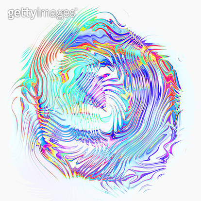 Abstract multi colored line, waves isolated on white background - gettyimageskorea