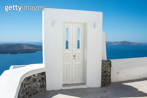 The rustic and traditional doorway  on the Greek island of Santorini - gettyimageskorea