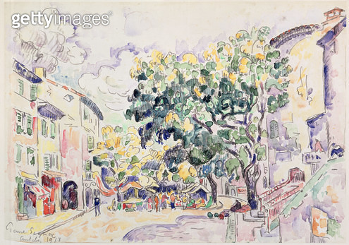 <b>Title</b> : Antibes, 1918 (w/c on paper)<br><b>Medium</b> : <br><b>Location</b> : The Barnes Foundation, Merion, Pennsylvania, USA<br> - gettyimageskorea