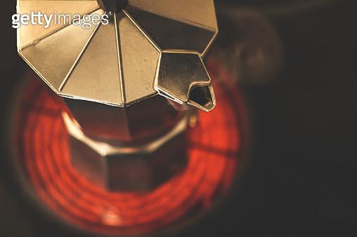 Steaming Espresso Maker Spout - gettyimageskorea