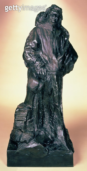 <b>Title</b> : Honore de Balzac (1799-1850) in a Dominican Silk Habit (bronze with a brown patina)<br><b>Medium</b> : bronze with brown patina<br><b>Location</b> : Private Collection<br> - gettyimageskorea