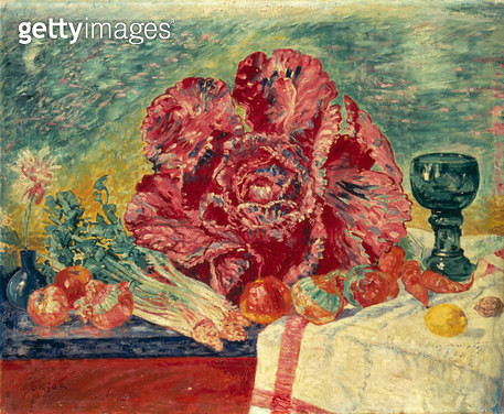 <b>Title</b> : The Red Cabbage, 1925 (oil on canvas)<br><b>Medium</b> : oil on canvas<br><b>Location</b> : Private Collection<br> - gettyimageskorea