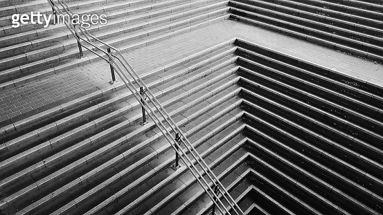 Geometric shape of concrete staircase - gettyimageskorea