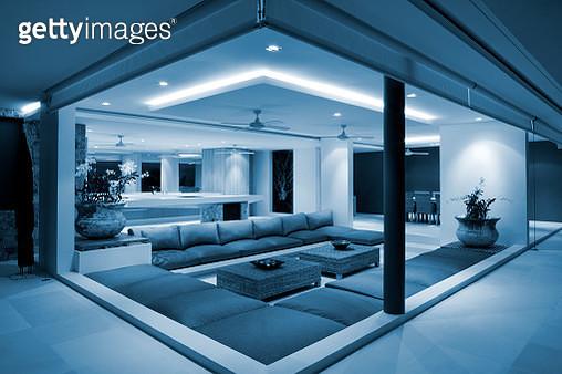 Luxury Home Villa Living Room Interior - gettyimageskorea