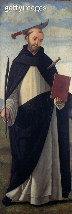 <b>Title</b> : Saint Peter Martyr (oil on panel)<br><b>Medium</b> : <br><b>Location</b> : Museo Correr, Venice, Italy<br> - gettyimageskorea