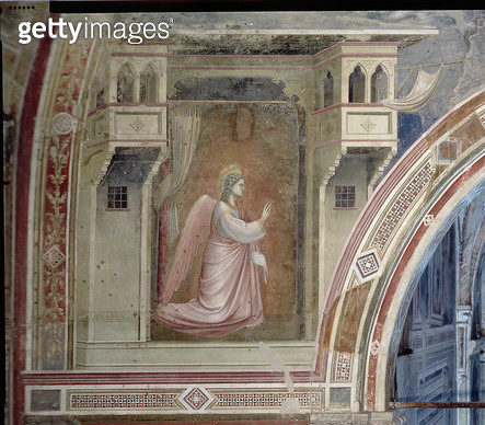 The Annunciation/ detail of the Angel Gabriel/ from the lunette above the altar/ c.1305 (fresco) - gettyimageskorea