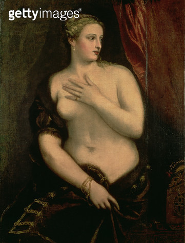 <b>Title</b> : Venus Contemplating Her Reflection in a Mirror (oil on canvas)<br><b>Medium</b> : <br><b>Location</b> : Ca' d'Oro, Venice, Italy<br> - gettyimageskorea