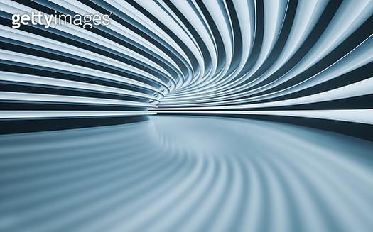 Futuristic Abstract empty corridor - gettyimageskorea