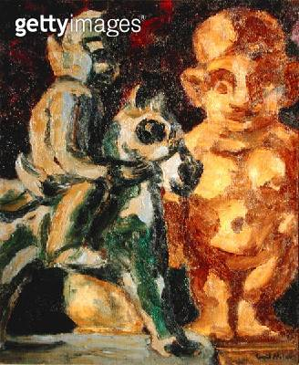 Rider and Clay Figure/ 1914 (oil on canvas) - gettyimageskorea