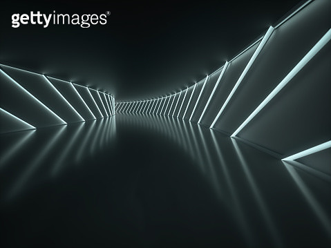Futuristic Abstract empty tunnel - gettyimageskorea