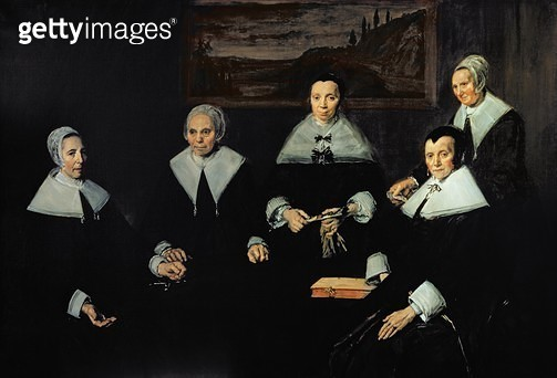 <b>Title</b> : The Regentesses of the Old Men's Almhouse, Haarlem, 1664 (oil on canvas)Additional InfoWomen Governors of the Haarlem Almshouse;<br><b>Medium</b> : oil on canvas<br><b>Location</b> : Frans Hals Museum, Haarlem, The Netherlands<br> - gettyimageskorea