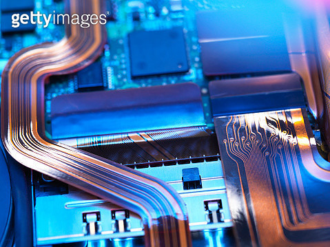 Close up of a laptop mother board - gettyimageskorea