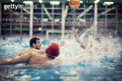 Water polo players in water - gettyimageskorea