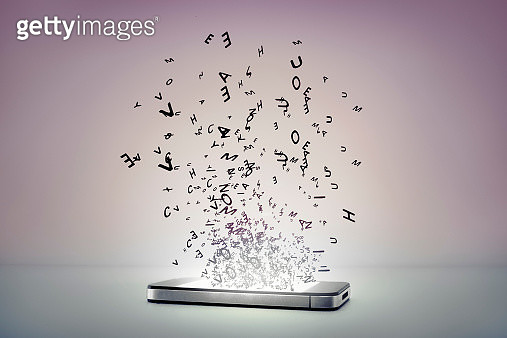 information coming out of a smart phone - gettyimageskorea