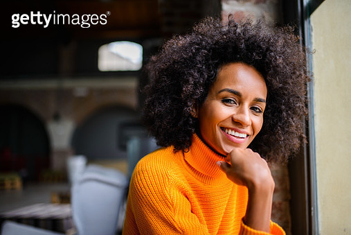 Portrait of smiling African American woman - gettyimageskorea