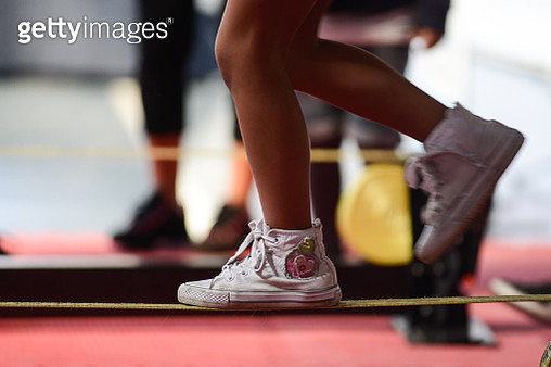 Slackline - Detail of feet - gettyimageskorea
