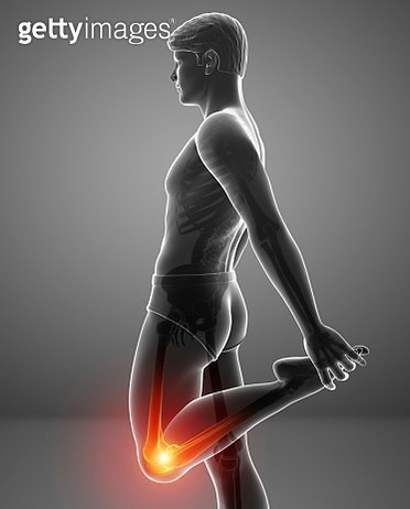 Man with knee pain, illustration - gettyimageskorea