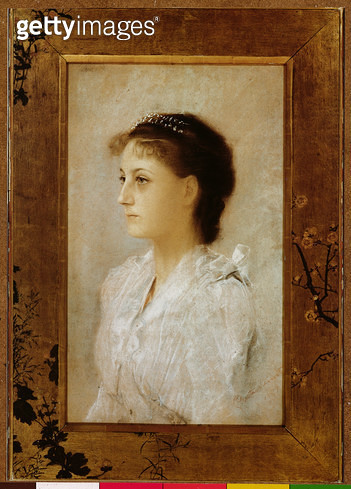 <b>Title</b> : Emilie Floge, 1891 (pastel on paper)<br><b>Medium</b> : pastel on paper<br><b>Location</b> : Private Collection<br> - gettyimageskorea