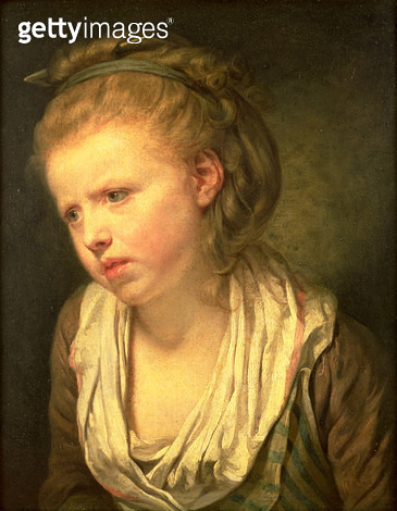 <b>Title</b> : Anxiety or Head of a Young Girl (oil on canvas)<br><b>Medium</b> : oil on canvas<br><b>Location</b> : Victoria Art Gallery, Bath and North East Somerset Council<br> - gettyimageskorea